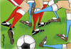 Cartoon: LEGBALL (small) by EASTERBY tagged football
