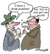 Cartoon: Only one mouth!!! (small) by EASTERBY tagged alcohol drinkproblems