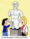 Cartoon: Out Watch (small) by EASTERBY tagged statues museums