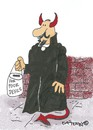 Cartoon: Poor devils (small) by EASTERBY tagged devil,begging,collecting,money