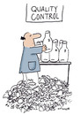 Cartoon: QUALITY CONTROL (small) by EASTERBY tagged handwerker,quality,control