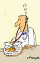 Cartoon: Vet and Fish (small) by EASTERBY tagged goldfish,veterinary,surgeon