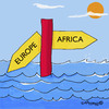 Cartoon: Welcome to Europe (small) by EASTERBY tagged asylumseekers immigants eupolitics racist