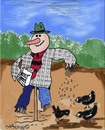 Cartoon: Your friendly scarecrow (small) by EASTERBY tagged agriculture scarecrows