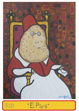 Cartoon: EL PAPA potato pope (medium) by Munguia tagged pope,papa,potato,portrait,munguia,art,parody,parodies,costa,rica