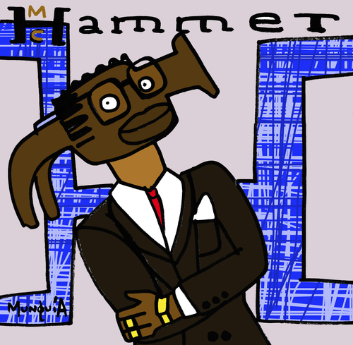 Cartoon: MC Hammer (medium) by Munguia tagged mc,hammer,time,please,dont,hurt,em,rap,hip,hop,90s,cover,album,parody,parodies