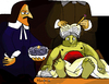 Cartoon: An open Book (small) by Munguia tagged the,anatomy,lesson,of,dr,deijman,rembrandt,open,head,brain,parody,horror,painting