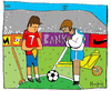 Cartoon: Angelus (small) by Munguia tagged soccer,futbol,sports,munguia,millet,angelus,french,costa,rica,france
