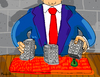 Cartoon: Banks vrs You (small) by Munguia tagged bank gambler shell bulding money tramp skam
