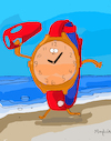 Cartoon: Baywatch (small) by Munguia tagged watch,parody,tv,show,90s,bay
