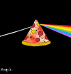 Cartoon: Dark side of the pizza (small) by Munguia tagged pizzapitch moon pink floyd colours dark side munguia cover album disc music rock progresive