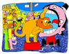 Cartoon: Domador domado (small) by Munguia tagged lion circus domador danger animals clown