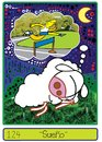 Cartoon: Dream (small) by Munguia tagged munguia calcamunguia colibri tarjeta telefonica phone card dream sheep oveja running
