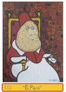 Cartoon: EL PAPA potato pope (small) by Munguia tagged pope,papa,potato,portrait,munguia,art,parody,parodies,costa,rica