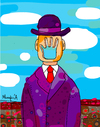 Cartoon: FacePalm (small) by Munguia tagged facepalm,face,magritte,rene,son,of,the,world,cartoon,munguia,calcamunguias,man