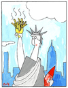 Cartoon: Freedom Fries (small) by Munguia tagged liberty,statue,new,york,french,fries,cherry,bomb,lipstick,eiffel,war