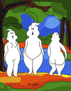 Cartoon: ghosts (small) by Munguia tagged kazimir malevich three nude figures white shapes ghostbusters ghosts
