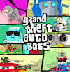 Cartoon: Grand Theft Autobots (small) by Munguia tagged gta grand theft auto robots optimus bender mask 80s backugan mazinger