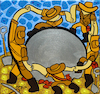 Cartoon: Indiana Joness Dance (small) by Munguia tagged the,dance,henri,matisse,la,danza,esferas,precolombinas,costa,rica,procolombian,spheres,balls,stone