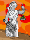 Cartoon: Justice for one (small) by Munguia tagged justice,justicia,impunity,law,ley,swords,sword,money,weight