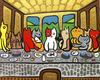 Cartoon: kittten diner (small) by Munguia tagged cats,kitty,pussy,last,supper,da,vinci,leonardo,food,animals