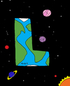 Cartoon: L World (small) by Munguia tagged world,lesbo,lesbian,gay,planet,woman,women
