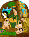 Cartoon: Madonna of Rock (small) by Munguia tagged madonna,of,the,rock,virgin,madona,de,las,rocas,leonardo,da,vinci,famous,paintings,parodies