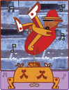 Cartoon: music box (small) by Munguia tagged music,box,break,dancer,dance,freestyle,rap,hip,hop