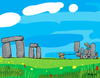 Cartoon: Neolithic Work (small) by Munguia tagged neolithic,stonehenge,stone,tractor,munguia,past,prehistoric