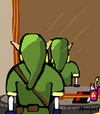 Cartoon: Not to be reproducede Link (small) by Munguia tagged not to be reproduced rene magritte mirror link back zelda nintendo video game