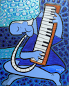 Cartoon: Old Melodica player (small) by Munguia tagged air,piano,melodic,melodica,key,picasso,pablo,famous,paintings,parodies