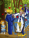 Cartoon: Piss and love (small) by Munguia tagged peace,and,love,the,swing,auguste,renoir,parody,famous,painting,gold,rain