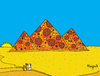 Cartoon: pizza pyramids (small) by Munguia tagged pizzapitch pizza pyramids egypt camel desert food
