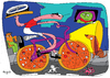 Cartoon: pizzicleta (small) by Munguia tagged pizzapitch bike cicle munguia pizza italian race food street