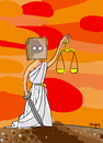 Cartoon: Shame (small) by Munguia tagged justice justicia impunity law ley swords sword bag shame