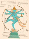 Cartoon: Shiva Vitruvian (small) by Munguia tagged vitruvio,vitruvian,shiva,god,religion,art,da,vinci,code,leonardo,munguia