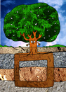 Cartoon: Square Root (small) by Munguia tagged square,root,three,arbol,raiz,cuadrada,matematicas,math