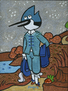 Cartoon: The Blue BIrd (small) by Munguia tagged regular,show,mordecai,blue,boy,gainsborough,jay