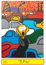 Cartoon: The scream (small) by Munguia tagged scream,munch,munguia,grito,car,traffic,embotellamiento