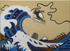 Cartoon: Tsunami (small) by Munguia tagged hokusai tsunami wave big mar tormentoso munguia pinguino
