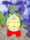 Cartoon: Turtle Abs (small) by Munguia tagged turtle,abs,abdominal,tortuga,stomach,six,pack,the,situation,belly,beach,summer,vacation,munguia,calcamunguias