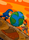 Cartoon: Works (small) by Munguia tagged sisifo works jobs world rich and poor sisyphus