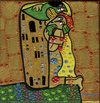 Cartoon: Zombie love (small) by Munguia tagged the,kiss,gustav,klimt,zombie,walking,dead,fear,living
