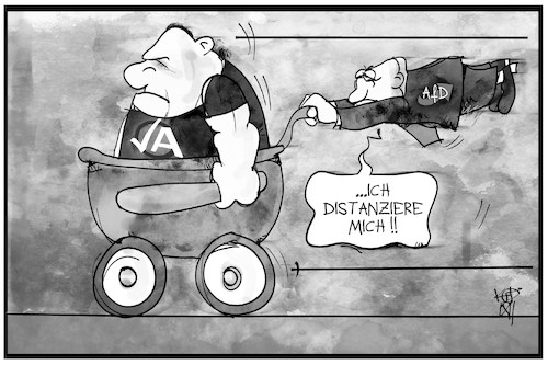 Cartoon: AfD und ihre Jugend (medium) by Kostas Koufogiorgos tagged karikatur,koufogiorgos,illustration,cartoon,afd,jugend,kinderwagen,distanz,ja,partei,neonazi,karikatur,koufogiorgos,illustration,cartoon,afd,jugend,kinderwagen,distanz,ja,partei,neonazi