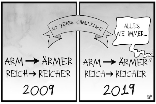 Cartoon: Arm und Reich (medium) by Kostas Koufogiorgos tagged karikatur,koufogiorgos,illustration,cartoon,arm,reich,armut,reichtum,challenge,entwicklung,gesellschaft,wohlstand,karikatur,koufogiorgos,illustration,cartoon,arm,reich,armut,reichtum,challenge,entwicklung,gesellschaft,wohlstand