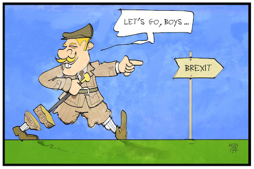 Cartoon: Brexit (medium) by Kostas Koufogiorgos tagged karikatur,koufogiorgos,illustration,cartoon,brexit,uk,grossbritannien,schottland,gibraltar,abspaltung,politik,karikatur,koufogiorgos,illustration,cartoon,brexit,uk,grossbritannien,schottland,gibraltar,abspaltung,politik