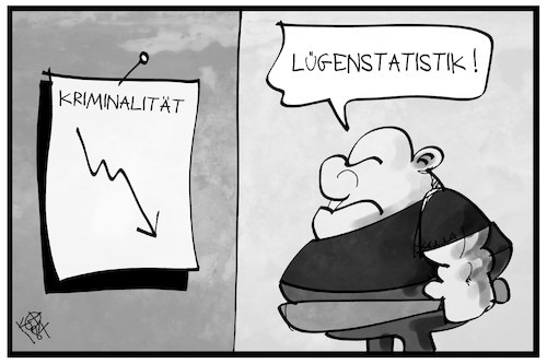 Cartoon: Kriminalstatistik (medium) by Kostas Koufogiorgos tagged karikatur,koufogiorgos,illustration,cartoon,kriminalstatistik,straftaten,neonazi,lüge,gewalt,extremismus,karikatur,koufogiorgos,illustration,cartoon,kriminalstatistik,straftaten,neonazi,lüge,gewalt,extremismus