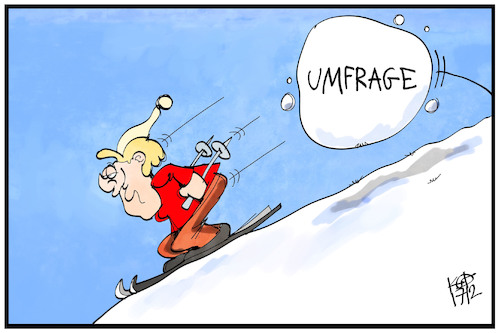 Cartoon: Merkel im Umfragetief (medium) by Kostas Koufogiorgos tagged karikatur,koufogiorgos,illustration,cartoon,merkel,umfrage,umfragetief,lawine,ski,ferien,urlaub,demographie,karikatur,koufogiorgos,illustration,cartoon,merkel,umfrage,umfragetief,lawine,ski,ferien,urlaub,demographie