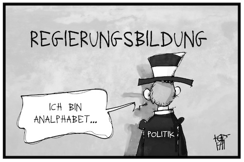 Cartoon: Regierungsbildung (medium) by Kostas Koufogiorgos tagged karikatur,koufogiorgos,illustration,cartoon,deutschland,politik,bildung,analphabet,demokratie,karikatur,koufogiorgos,illustration,cartoon,deutschland,politik,bildung,analphabet,demokratie