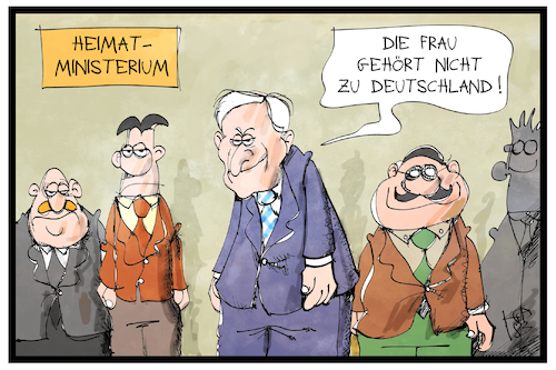 Cartoon: Seehofers Mannschaft (medium) by Kostas Koufogiorgos tagged karikatur,koufogiorgos,illustration,cartoon,seehofer,mannschaft,frau,gleichberechtigung,heimatmisterium,innenministerium,team,csu,karikatur,koufogiorgos,illustration,cartoon,seehofer,mannschaft,frau,gleichberechtigung,heimatmisterium,innenministerium,team,csu